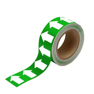 安赛瑞 管道流向箭头带-绿,高性能自粘性材料,50mm宽×27m长,33519