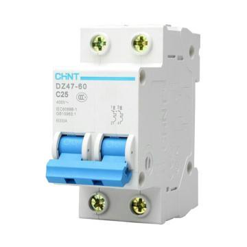 正泰CHNT 微型斷路器 DZ47-60 2P 10A C型