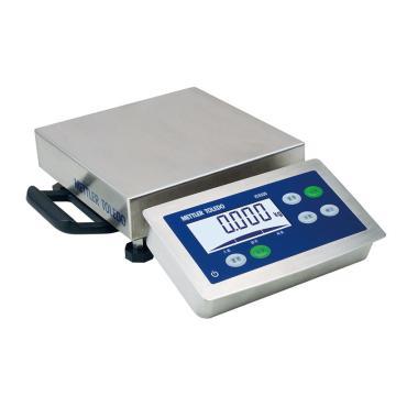 梅特勒-托利多 不锈钢防水电子台秤,额定载重3kg,电池另购