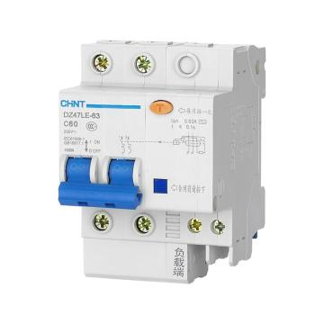 正泰 微型漏电保护断路器,DZ47LE-32 2P D16 30mA