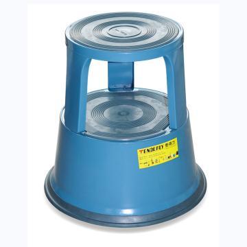泰得力 钢制脚凳,承重150Kg 工作高度430mm 蓝色,BENCH150S-BLU