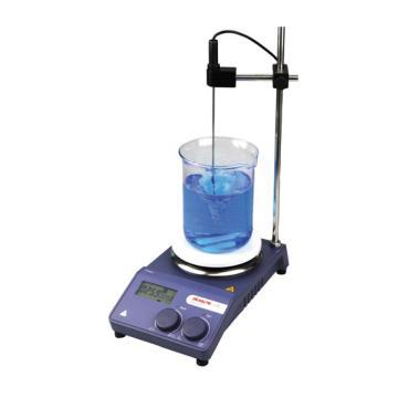 磁力搅拌器,数显,加热型,MS-H-PRO,最大搅拌量:20L,加热温度范围:室温-340℃,不锈钢陶瓷涂层盘面