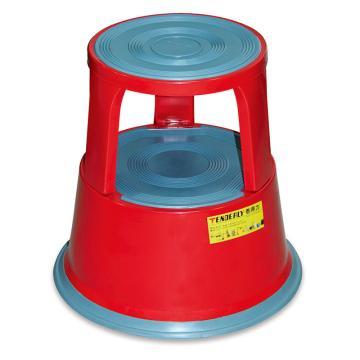 泰得力 钢制脚凳,承重150Kg 工作高度430mm 红色,BENCH150S-RED