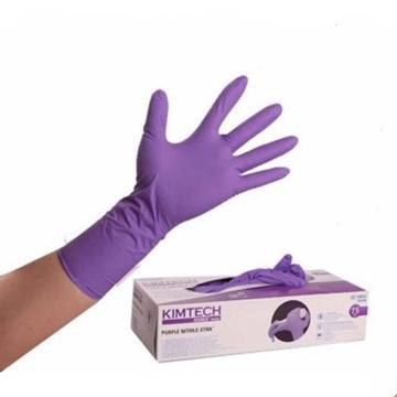 金佰利 无粉一次性手套,97612,一次性紫色丁腈加长手套30cm 中号,50只/盒