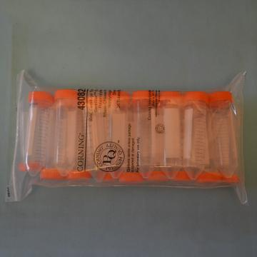 离心管,50ml,锥形底,平底盖,PP材质,灭菌,25个/包