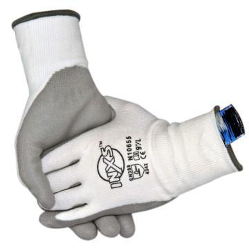 赛立特 N10655-9 13针白色HPPE3级防割内胆,手掌浸灰色PU