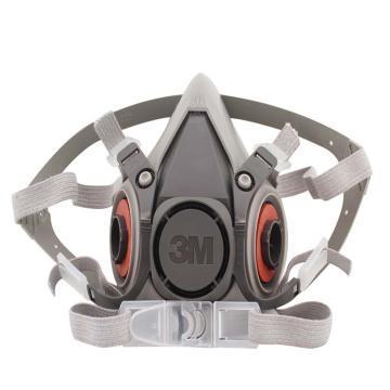 3M 6100半面型防护面具,小号