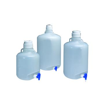 可高温高压灭菌的细口大瓶,带放水口,聚丙烯,20L容量