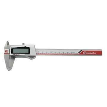 广陆 数显卡尺,0-200mm(金属壳3V锂电)