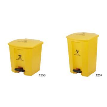 特耐適(Trust)垃圾桶,Trust醫療垃圾桶,30L 黃色,1256
