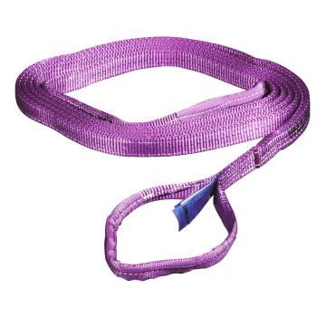 多来劲 扁吊带,扁平吊环吊带, 1T×4m 紫色