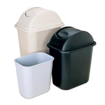 乐柏美小型垃圾桶,灰色,12.9L