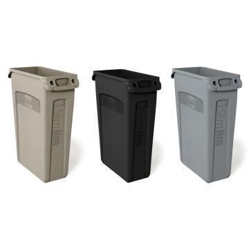 垃圾桶,乐柏美Slim Jim 带对流式通风设计,灰色,87.1L