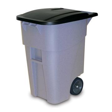 樂柏美Rubbermaid可推式垃圾桶,9W2700藍色189.3L,連桶蓋