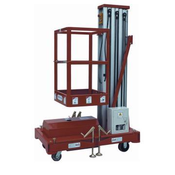 虎力 经济型单桅高空作业平台,载重125kg,平台最高10米,平台尺寸650*600mm