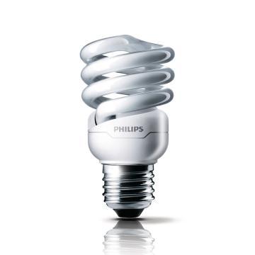 飞利浦 Tornado T2 螺旋形节能灯,12W CDL 白光 E27,整箱 12只/箱