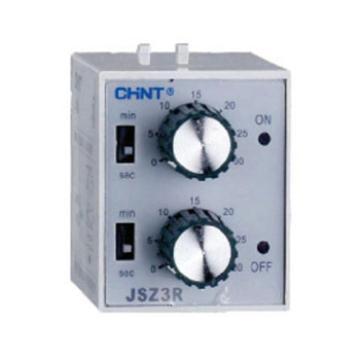正泰CHINT 时间继电器,JSZ3R(1-10)s/10min AC220V