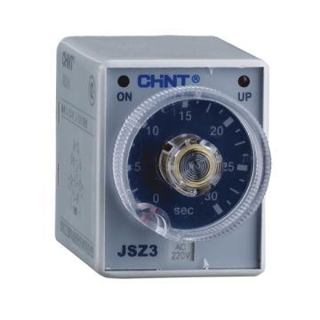 正泰CHINT 时间继电器,JSZ3F 3min AC220V
