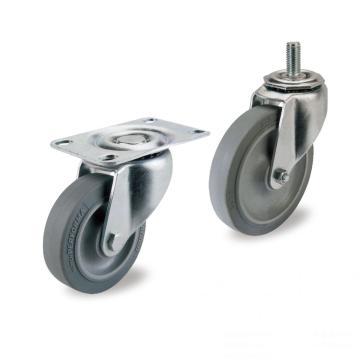 50人造胶轻型活动脚轮,轮子材料 超级人造胶(平边)