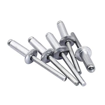 GB12618开口型扁圆头抽芯铆钉,M4X10,铝帽铁芯,1000个/包