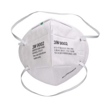 3M 防塵口罩,9002,KN90 折疊式頭帶式,雙片包裝 50個/盒