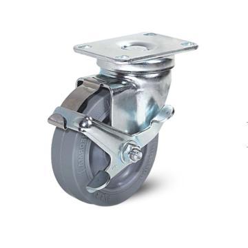 科顺 75橡胶(硬)金属边刹脚轮,轴承 特尔灵,A2-3346-443BRK1