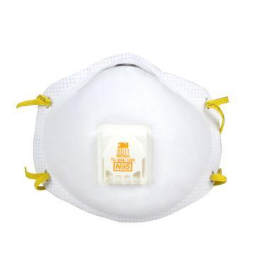 3M 8511CN N95防护口罩,带阀,10个/盒