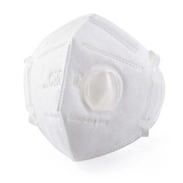 朝美 防尘口罩,6002A-3,KN95 折叠耳戴式带阀防尘口罩,精装 25只/盒