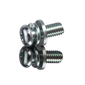 西域/EHSY 4.8級十字槽盤頭三組合螺絲,藍白鋅,M6*16,500個/包