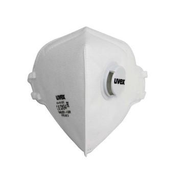 UVEX silv-Air 3310 FFP3折叠式带阀防尘口罩,白色,1个