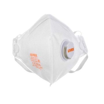 UVEX silv-Air 3210 FFP2折叠式带阀防尘口罩,白色,1个