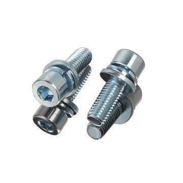 西域/EHSY 8.8級內六角圓柱頭三組合螺絲,M6-1.0X25,藍白鋅,100個/包