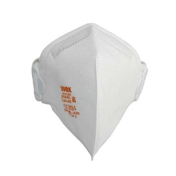 UVEX silv-Air 3200 FFP2折叠式防尘口罩,白色,1个