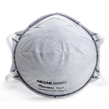 羿科N95头戴式碗型活性炭口罩,20只/盒,60403225