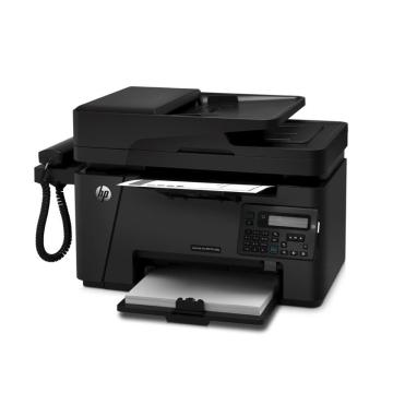 惠普(HP)LaserJet Pro MFP M128fp黑白激光一体机 打印复印扫描传真 电话手柄