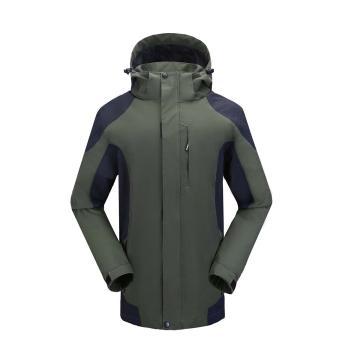 雷克兰时尚款新雪丽户外防寒夹克(绿色)含内胆,PR11+T200,L