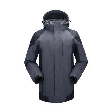 雷克兰时尚款新雪丽户外防寒夹克(灰色)含内胆,M,,PR10+T200