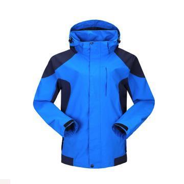 雷克兰时尚款新雪丽户外防寒夹克(蓝色)含内胆,PR12+T200,M