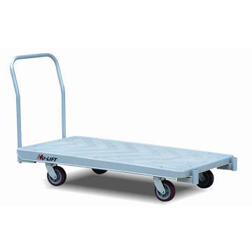 虎力 塑料大臺面平板推車,承重1500kg 臺板尺寸長1510mm*寬750mm單把手,PM1501