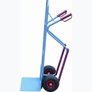 虎力 钢制双轮货仓车,载重300kg,货铲尺寸250*320mm,实心橡胶轮