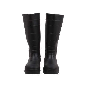代尔塔 PVC高帮安全靴,防砸防刺穿耐酸碱,42,301407
