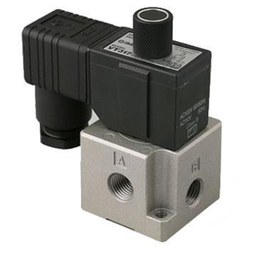 "SMC 3通電磁閥,直動式,DIN插座式(帶插頭),Rc1/4"",AC220,VT317-4DZ-02"