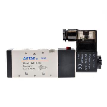 亚德客AirTAC 单控5通电磁阀,AC220V,4V310-08-A