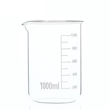低形烧杯,1000ml,6个/盒