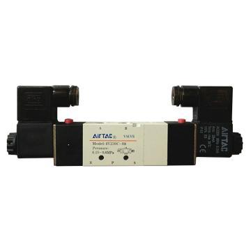 亚德客AirTAC 电磁阀,3位5通双电控中泄式,4V230E-08-B