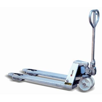 虎力 镀锌手动液压搬运车,载重(T):2.5,货叉宽度(mm):680