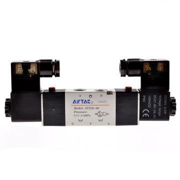 亚德客AirTAC 双控5通电磁阀,AC220V,4V220-08-A