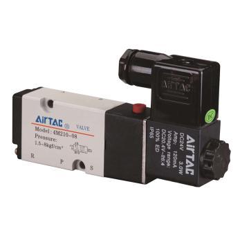 亚德客单控5通电磁阀,AC220V,4M210-08-A