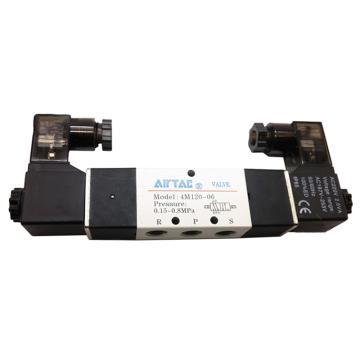 亚德客AirTAC 双控5通电磁阀,AC220V,4M220-08-A