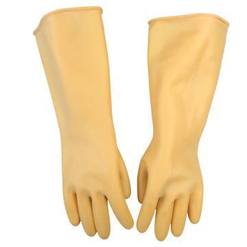 西域推荐 乳胶防化手套,长度31cm